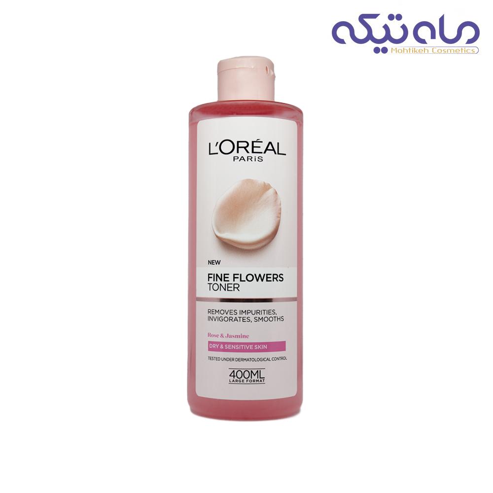 تونر لورئال مناسب پوست های خشک و حساس