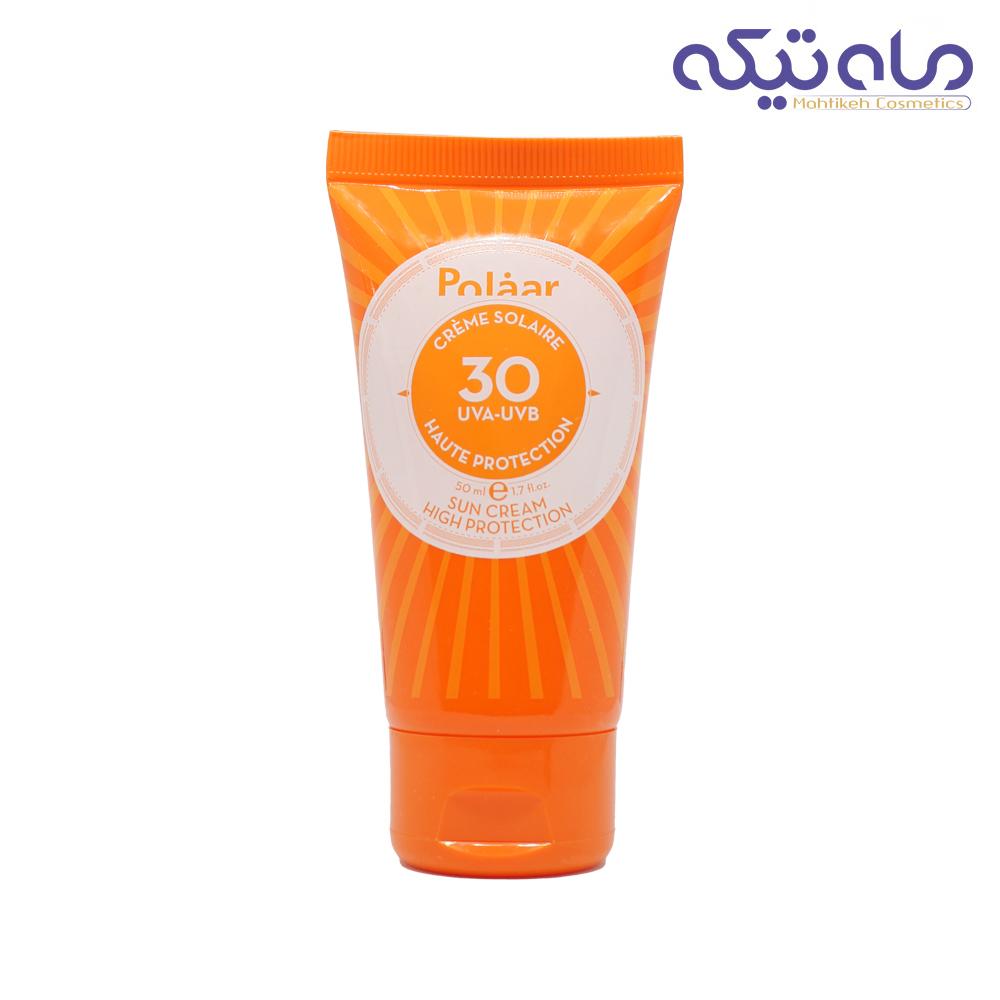 ضد آفتاب پولار مناسب انواع پوست بدون رنگ